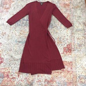 Banana Republic Knit Wrap Dress (M)